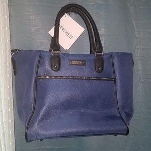 Nine West blue laptop bag